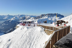 Montagne di Alpes del francese a Chamonix-Mont-Blanc, Francia Immagine Stock