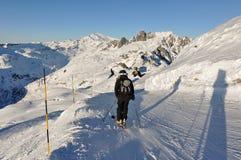 Montagne di Alpes del francese a Chamonix-Mont-Blanc, Francia Fotografie Stock