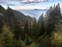 Montagne di Alpins fotografia stock