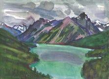 Montagne di Altai Fotografia Stock