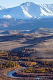 Montagne di Altai, cresta di Chuya, Siberia ad ovest Fotografie Stock Libere da Diritti