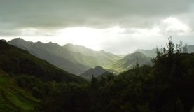 Montagne di Anaga fotografie stock