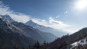 Montagne di annapurna di buongiorno Fotografia Stock
