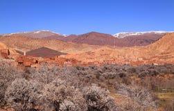 Montagne di atlante in primavera, Marocco Fotografia Stock Libera da Diritti