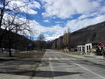 Montagne di Balkaria Fotografie Stock