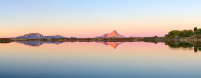 Montagne di Bektau Ata Immagini Stock Libere da Diritti