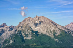 Montagne di Berchtesgaden, alpi Fotografia Stock