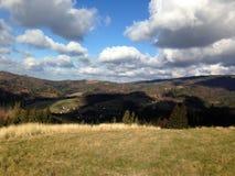 Montagne di Beskidy fotografie stock