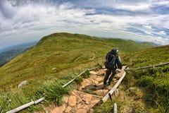 Montagne di Bieszczady Immagini Stock
