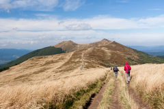 Montagne di Bieszczady in Polonia sudorientale Fotografia Stock Libera da Diritti