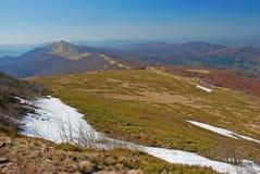 Montagne di Bieszczady in primavera Immagini Stock Libere da Diritti