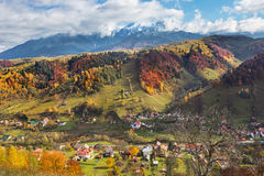 Montagne di Bucegi in autunno Fotografia Stock