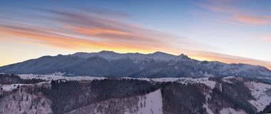 Montagne di Bucegi Vista di panorama Fotografia Stock
