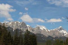 Montagne di Canmore Alberta Fotografia Stock