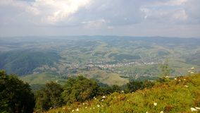 Montagne di Carpathians Fotografia Stock