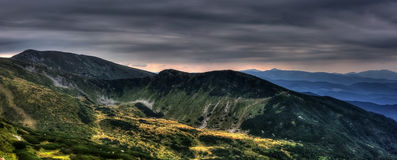Montagne di Carpathians Immagini Stock