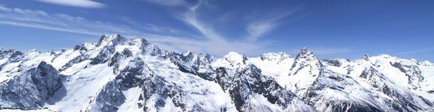 Montagne di Caucaso di panorama Fotografia Stock Libera da Diritti
