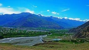 Montagne di Caucaso, distretto di Akhtynsky di Dagestan Fotografie Stock Libere da Diritti