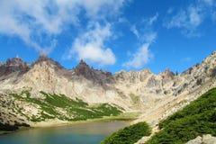 Montagne di Cerro Catedral in Bariloche Immagine Stock Libera da Diritti