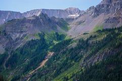 Montagne di Colorado contro il cielo Fotografie Stock