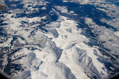 Montagne di Colorado dall'aria Immagini Stock