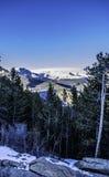 Montagne di Colorado sotto neve Immagine Stock