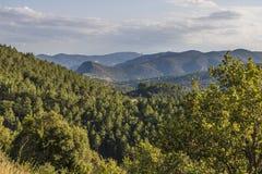 Montagne di Corbieres, Francia fotografia stock