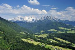 Montagne di Dachstein Fotografia Stock