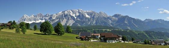 Montagne di Dachstein Immagini Stock Libere da Diritti