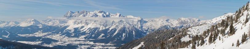 Montagne di Dachstein Fotografie Stock Libere da Diritti