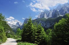 Montagne di Dachstein & di Gosaukamm Fotografia Stock