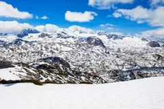 Montagne di Dachstein in Austria Immagini Stock