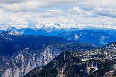 Montagne di Dachstein in Austria Fotografia Stock Libera da Diritti