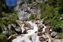 Montagne di Dachstein, Silberkarklamm, Austria Immagine Stock Libera da Diritti