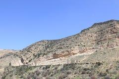 Montagne di Dana Nature Reserve, Giordania Fotografia Stock Libera da Diritti