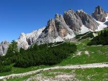Montagne di Dolomiti Immagini Stock Libere da Diritti