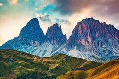 Montagne di Dolomiti Fotografia Stock Libera da Diritti