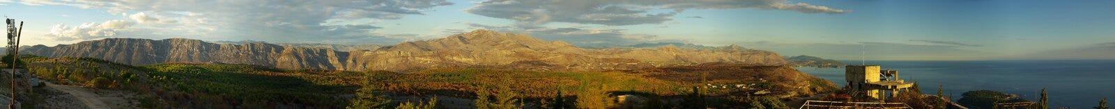 Montagne di Dubrovnik   fotografia stock libera da diritti