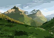 Montagne di estate fotografie stock libere da diritti