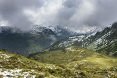 Montagne di estate di Snowy vicino a Galtur, Austria Fotografia Stock Libera da Diritti