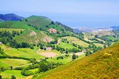 Montagne di estate vicino a Llanes Immagini Stock Libere da Diritti