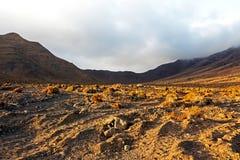 Montagne di Fuerteventura nell'area Jandia Immagine Stock