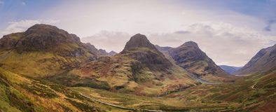 Montagne di Glencoe fotografia stock libera da diritti