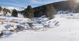 Montagne di Grandvalira, Grau Roig, Andorra fotografia stock libera da diritti