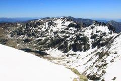 Montagne di gredos della neve a avila Immagini Stock Libere da Diritti