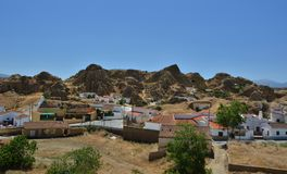 Montagne di Guadix Immagini Stock