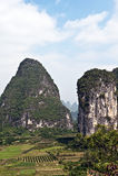 Montagne di Guilin, Cina Fotografia Stock Libera da Diritti