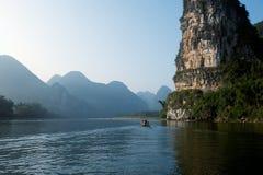 Montagne di Guilin in Cina Fotografie Stock Libere da Diritti