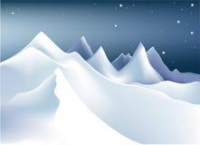 Montagne di inverno Immagine Stock