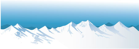 Montagne di inverno Immagine Stock Libera da Diritti